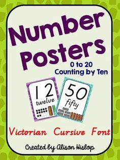 Number Posters for Vic and WA schools!