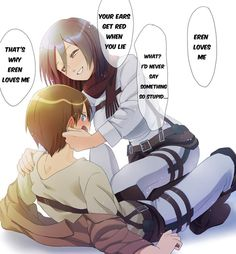 Find images and videos about attack on titan and mikasa x eren on We Heart It - the app to get lost in what you love. Attack On Titan Eren, Attack On Titan Ships, Mikasa X Eren, Armin, Rivamika, Eremika, Levihan, Know Your Meme, Cute Anime Couples