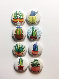 Cacti Love Flair by aflairforbuttons on Etsy