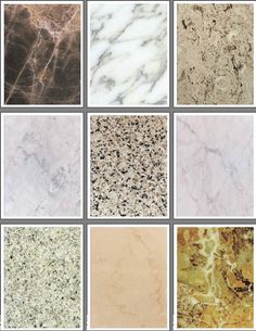 Mármol Set 1 - un conjunto de 21 páginas de texturas de mármol naturales para álbumes de recortes y proyectos rubberstamping.
