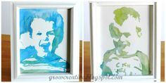 Grow Creative: Easy Watercolor Portrait Tutorial  WHAT A FABULOUS & EASY IDEA!  Such a marvelous way to showcase your children in a unique and eye-catching way.  Pet-lover?  Use this same method using a photo of your pet!  Countless possibilities and variations of this project.