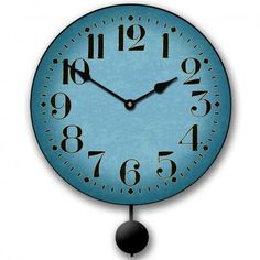 Houston Blue Pendulum Clock | The Big Clock Store