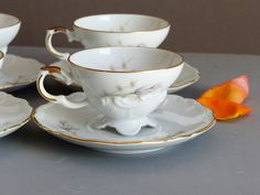Vintage Bavarian Tea Cups or Coffee Cups and Saucers Set of 6. Children's or…