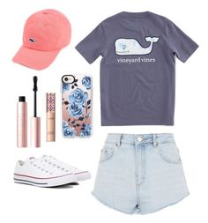 """""""Untitled #35"""" by lacihebel on Polyvore featuring Topshop, Vineyard Vines, Casetify, Too Faced Cosmetics, tarte and Converse"""
