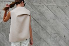 Double faced wool top by Christina DeSmet | DeSmitten