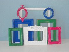 Picture Frames  Set of Eight Frames in Kelly Green by TheArtofChic, $88.00