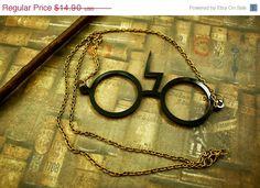 Harry Potter Scar Glasses necklace $12.67