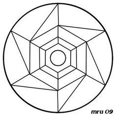 mandalas faciles - Google Search Geometric Properties, Mandala Printable, Mandala Art Lesson, 3d Drawings, Zentangle Patterns, Magick, Art Lessons, Coloring Pages, Mosaic Ideas