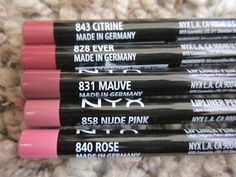 Nyx Lip Pencils - MAC lipliner dupes