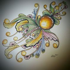 #zentangled #zengems #zentangleart #colors #colorpencil #禪 #禪繞 Zentangle Drawings, Doodles Zentangles, Zentangle Patterns, Colored Pencil Artwork, Colored Pencils, Zantangle Art, Gem Drawing, Metal Pen, Love Drawings
