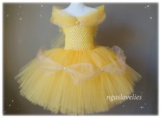 Disney Inspired Belle Dress -Beauty and the beast - Princess Dress - Tutu Dress - Costume Dress - Halloween - Baby, Girl, Kids Dress