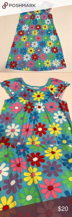 """Hanna Andersson 130 Bright Floral Print Dress Very good condition, only light wear. Lightweight, not Lined. Chest 28"""". Length 28"""". Made Of 100% cotton. Hanna Andersson Dresses Casual"""