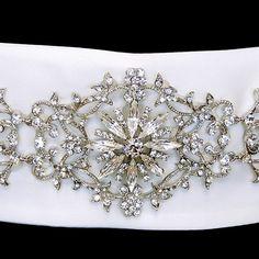 Affordable Elegance Bridal - Vintage Inspired Rhinestone Floral Sash Wedding Dress Belt, $147.99 (http://www.affordableelegancebridal.com/vintage-inspired-rhinestone-floral-sash-wedding-dress-belt/)
