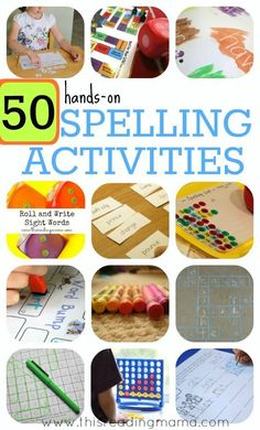 50 Hands-On SPELLING ACTIVITIES for Phonics and Sight Words | This Reading Mama