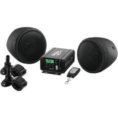 Boss Audio 600-watt Motorcycle And Atv Sound System With Fm Tuner & Bluetooth (black)