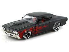 1969 Chevy Chevelle 1/24 Black w/ Flames
