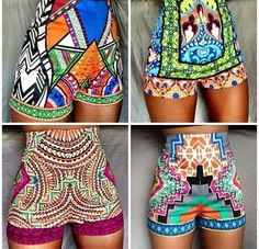 Love the print and the short #Hot_pants