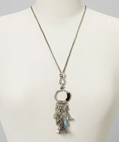 This Silver Eiffel Tower Charm Pendant Necklace by Di Firenze is perfect! #zulilyfinds