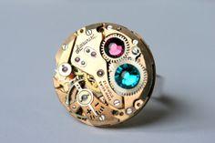 "Steampunk Ring ""Accurist"" by ZuziHake."