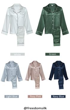 22 Momme Classic Full Length Silk Pajama Set For Women Silk Pajamas 16ed9a95b