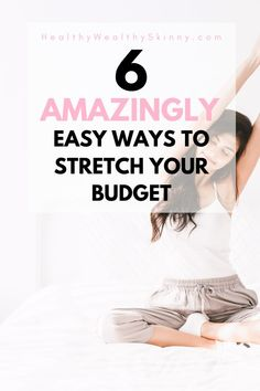 Getting the most for your money should be a goal that we all aim to achieve. Discover 6 Easy Ways to Stretch Your Budget and save more money. Ways To Save Money, How To Get Money, Money Tips, Money Saving Tips, Make Money Online, Frugal Tips, Frugal Meals, Money Saving Challenge, Managing Your Money