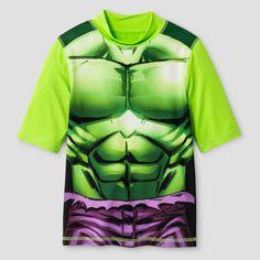 Boys' Hulk Rashguard - Lime XS, Green
