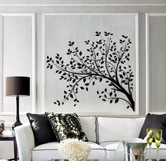 Wall Vinyl Decal Tree Branches with Leaves Nature Landscape Modern Art Home Decoration (#1053dz) by BoldArtsy on Etsy https://www.etsy.com/listing/261388021/wall-vinyl-decal-tree-branches-with