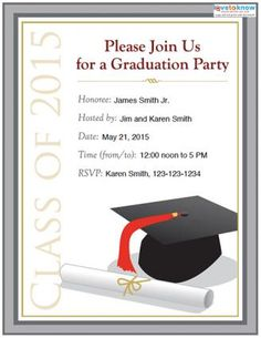 Free Printable College Graduation Announcements Download Our Free - Party invitation template: grad party invites templates