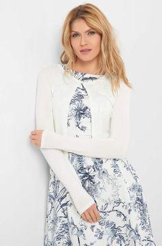 Sako z viskózy - Béžový Bell Sleeves, Bell Sleeve Top, Tops, Women, Fashion, Cloakroom Basin, Things To Do, Knit Jacket, Long Sleeve