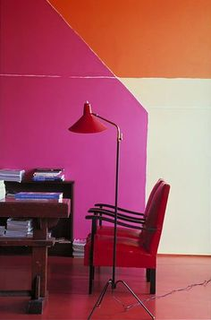pink + orange