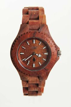 This wooden watch is gorgeous. Wouldn't it be cool if they made watches from beautiful, different-colored, reclaimed woods?!
