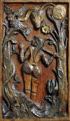 Paul Gauguin - Post Impressionism - Eve & le serpent - Eve & the snake - 1889