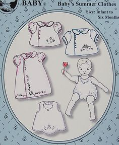 Farmhouse Fabrics: Old Fashioned Baby Summer Clothes, Reprinted!