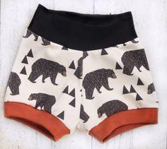 Woodland Bear Baby or Toddler Boy Shorts by MadeByAmberMoon
