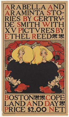 Ethel Reed, poster for Arabella and Araminta Stories, 1895.