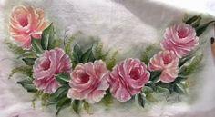 Pintura em Tecido Passo a Passo: Pintura em tecido rosas