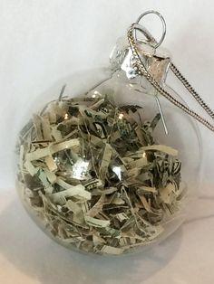 Novelty Stocking Stuffer - Dirty Santa Gift - Real Money Christmas Ornament - Christmas Money Holder - Gag Gift - Funny Christmas Gift