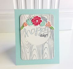 Happy Day Card by Danielle Flanders for Papertrey Ink (June 2014)