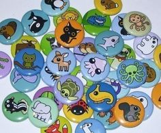 3 animal badges $6
