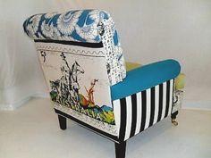 1968 Northern Territory tea towel armchair