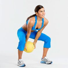Medicine Ball Swing - 15 Minutes to Flatter Abs Fitnessmagazine.com