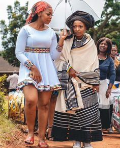 South African Dresses, South African Traditional Dresses, African Dresses For Women, African Attire, African Women, African Beauty, Pedi Traditional Attire, Traditional Outfits, African Print Pants
