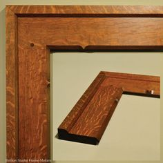Cassettas and Compound Auroras - Holton Studio Frame-Makers Craftsman Frames, Craftsman Style, Picture Frame Display, Wood Picture Frames, Woodworking Inspiration, Woodworking Projects, Frame Crafts, Wood Crafts, Wood Shop Projects