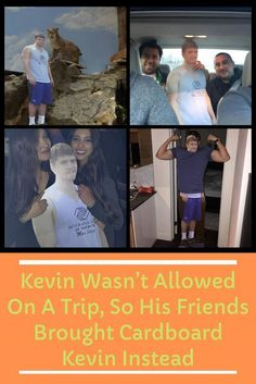 Kevin's fiancée wouldn't let him go on a birthday trip with his friends, so they did what anyone would: they brought a cardboard cutout of him instead. Letting Go Of Him, Love Couple, Friends, Funny Jokes, Love Quotes, Bring It On, Humor, Memes, Gossip