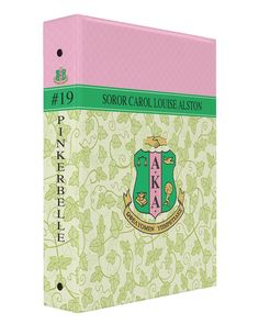 Personalized 3 Ring Binder, Sorority AKA Ivy and Pink Lattice - Designs by Dee's Hands  - 1