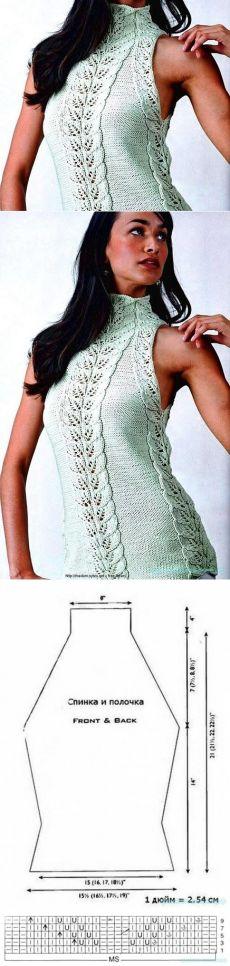 tricô bonita |  Túnica com padrão & quot; folhas & quot;
