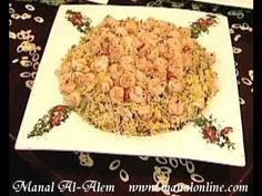 أرز بالروبيان - منال العالم - YouTube Rice Recipes, Risotto, Shrimp, Seafood, Grains, Vegetables, Presentation, Kitchens, Sea Food