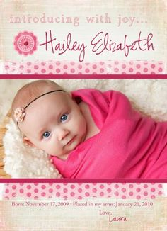 welcome Hailey | adoption announcement