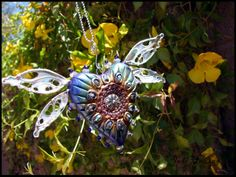 Winged Heart Sun-catcher - Heart Shield. Come check my website out at www.beadworx.com