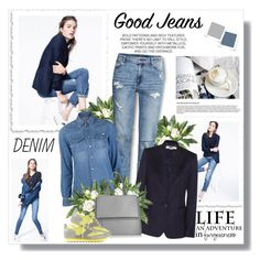 """""""Denim style for Spring!!"""" by lilly-2711 ❤ liked on Polyvore featuring J.Crew, Nearly Natural, H&M, Mother, STELLA McCARTNEY, Givenchy and Marc by Marc Jacobs"""